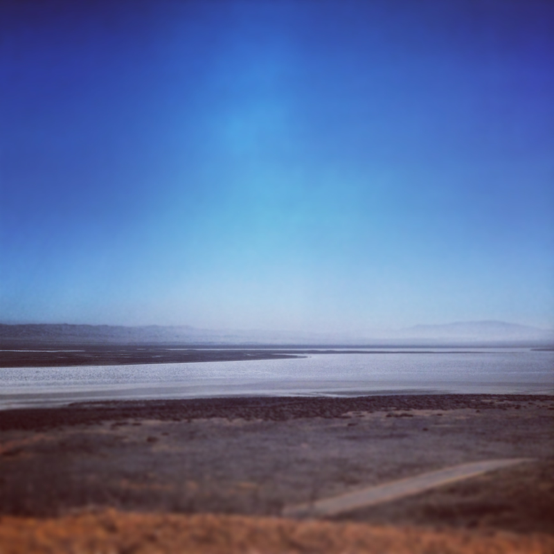 The view of Soda Lake from the monument